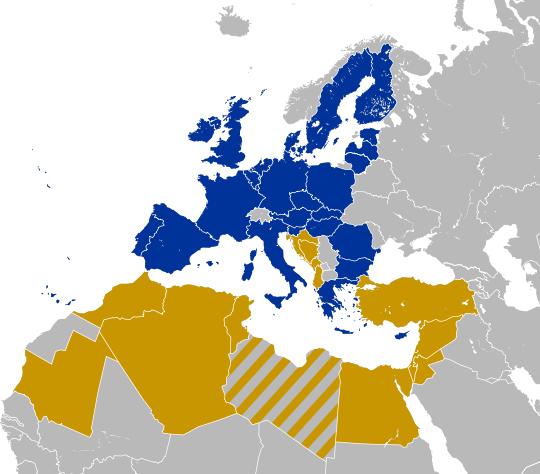 I paesi dell'Unione per il Mediterraneo
