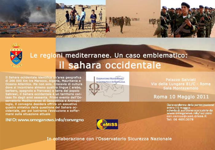 LE REGIONI MEDITERRANEE: un caso emblematico, il Sahara occidentale