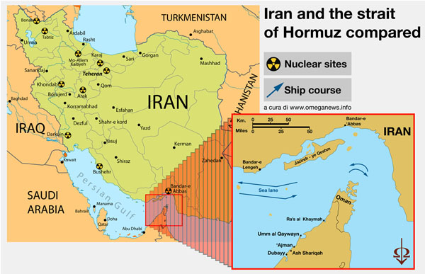 Iran and the Strait of Hormuz compared