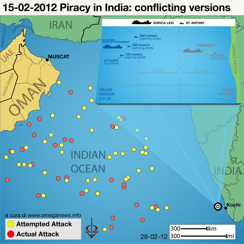 Cartografia: La pirateria nell'Oceano Indiano