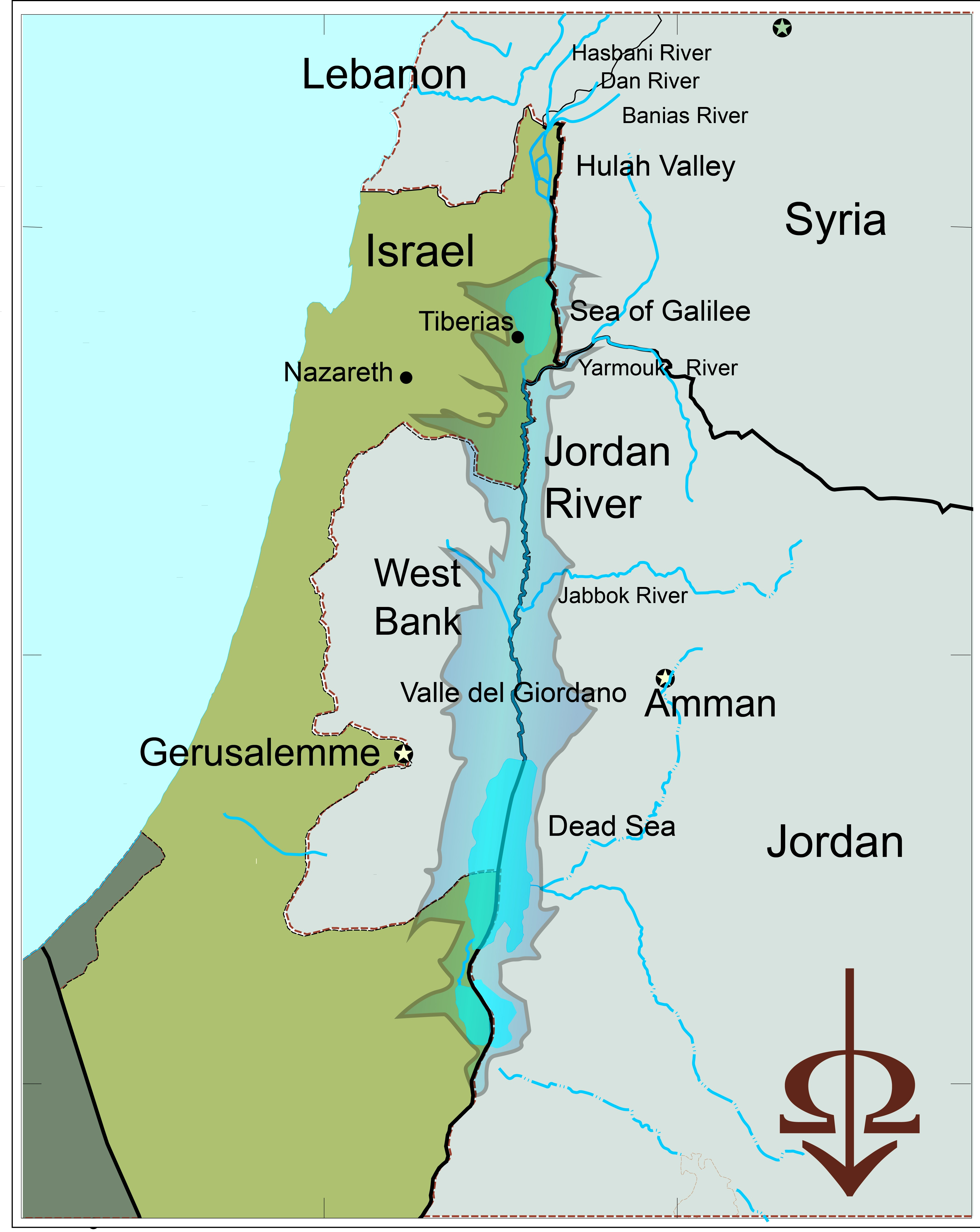 Cartina Israele Giordania.Fiume Giordano Dal Misticismo Della Religione Al Pericolo Idrico Omeganews Info