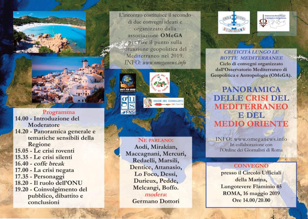 Convegno del 16/5/2019 – Panoramica delle crisi del Mediterraneo e Medio Oriente